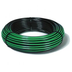"1¼ "" x 150m Green Stripe Rural Poly Pipe"